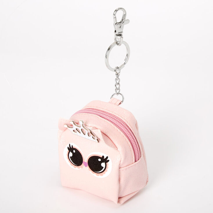 Penelope the Owl Mini Backpack Keychain - Pink,