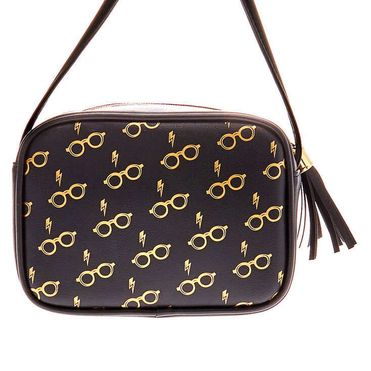 Harry Potter™ Glasses and Scar Crossbody Bag – Black,