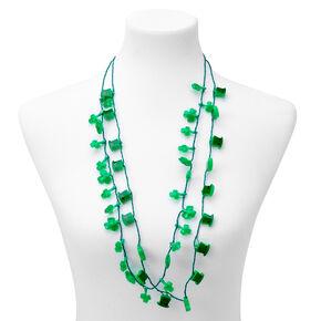 Shamrock Light-Up Necklaces - Green, 2 Pack,