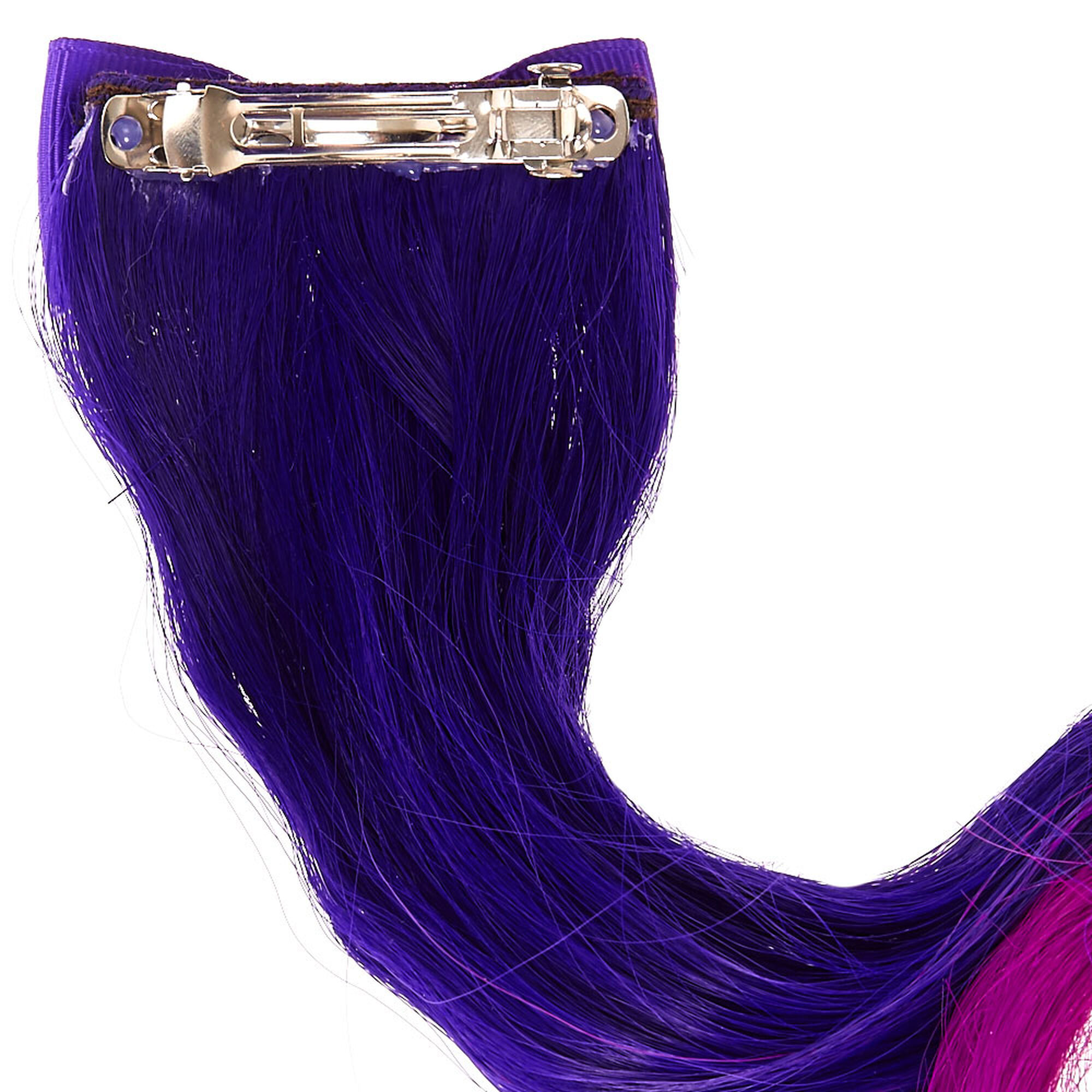 Claires Club Ombre Faux Hair Extension Clip Purple Claires Us