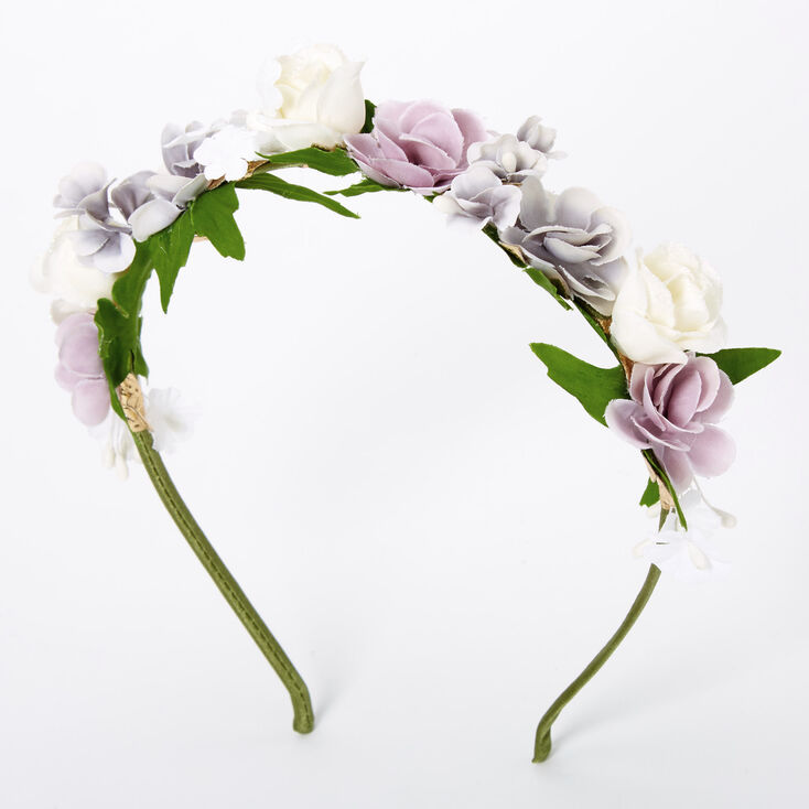 Spring Blues Flower Headband - Purple,