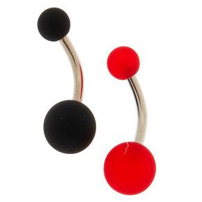 Lot de 2 piercings de nombril boule en silicone,