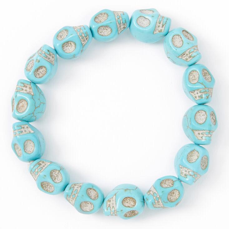 Skull Stretch Bracelet - Turquoise,