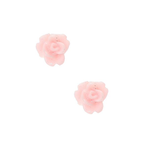 Claire's - rose stud earrings - 1