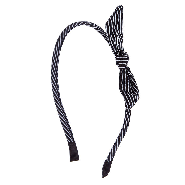Black and White Striped Knot Headband  0fe80d541eb