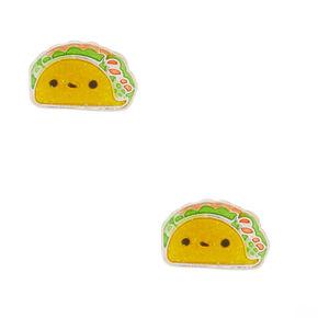 Taco Stud Earrings - Yellow,