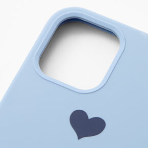 Baby Blue Heart Phone Case - Fits iPhone 12/12 Pro,