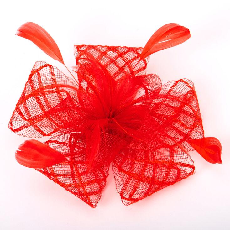 Criss Cross Hair Fascinator - Red,