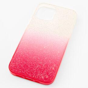Bright Pink Ombre Caviar Glitter Phone Case - Fits iPhone® 12/12 Pro,