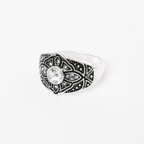 Silver Vintage Filigree Ring,