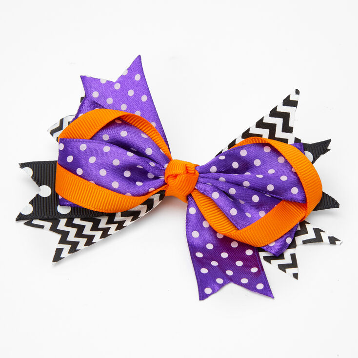 Halloween Ribbon Hair Bow Clip,