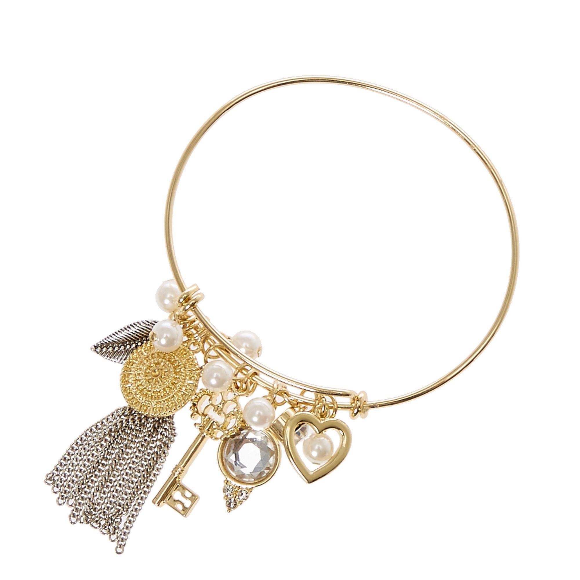 Gold Wire Charm Bracelet | Claire\'s US