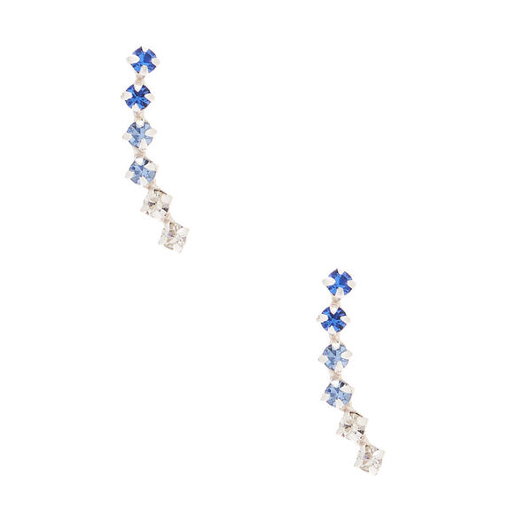 Claire's - sterling silver ombre stone ear crawler earrings - 1