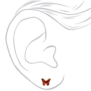 18kt Gold Plated Monarch Butterfly Stud Earrings,