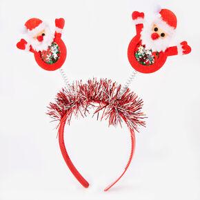 Santa Deely Bopper Headband - Red,