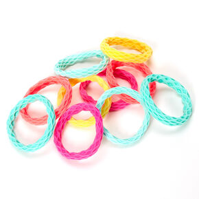 Claire's Club Neon Honeycomb Hair Ties - 10 Pack,