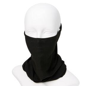 Cache-cou/bandeau en tricot couleur unie - Noir,