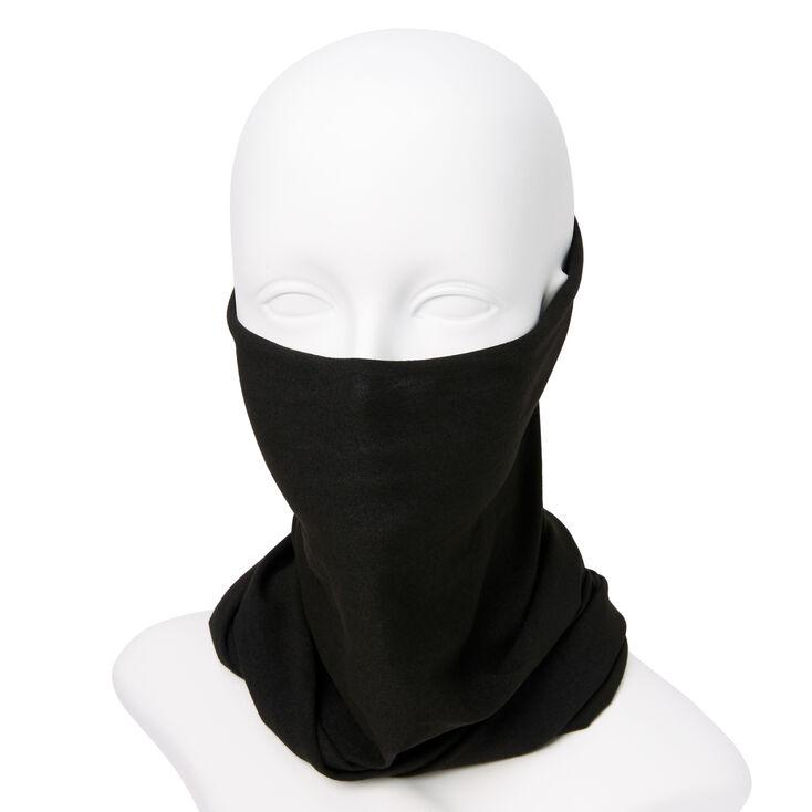 Solid Knit Headwrap/Gaiter - Black,