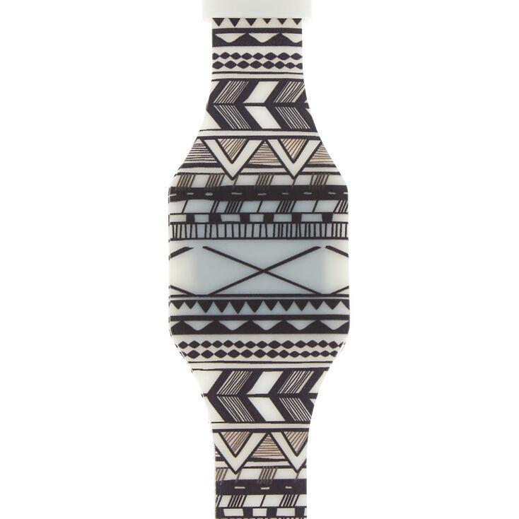 Aztec LED Watch - White,
