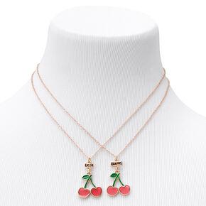 Best Friends Cherry Pendant Necklaces - 2 Pack,