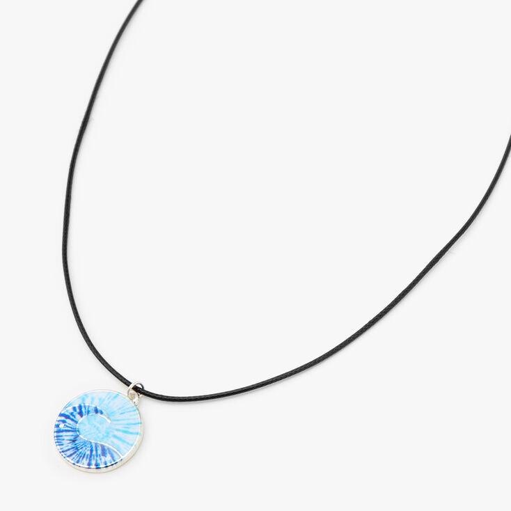 Tie-Dye Wave Pendant Cord Necklace,