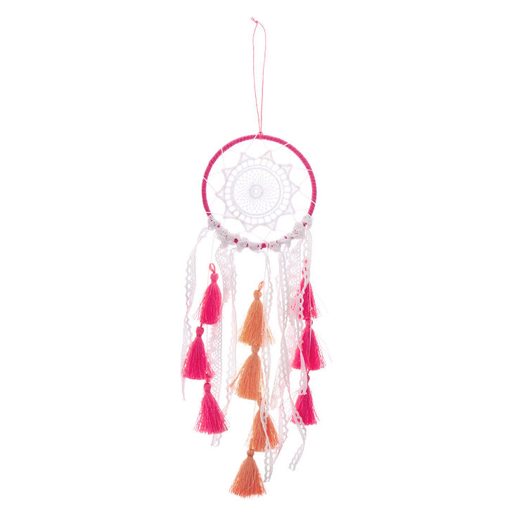 Sunset Crochet Dreamcatcher - Pink,