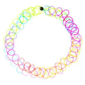 Rainbow Tattoo Anklet,