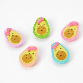 Smiling Avocado Erasers - 5 Pack,
