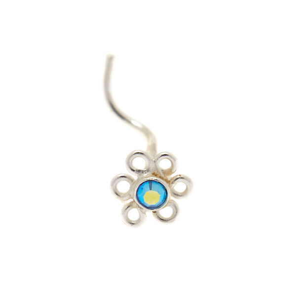 Claire's - sterling 22g daisy nose stud - 2