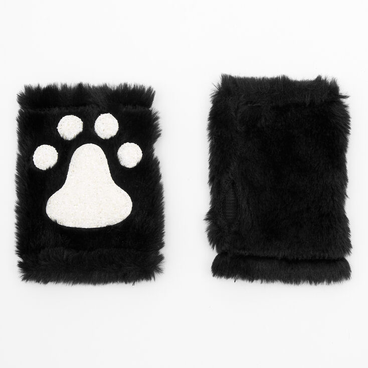 Furry Glow in the Dark Cat Costume Set - Black, 3 Pack,
