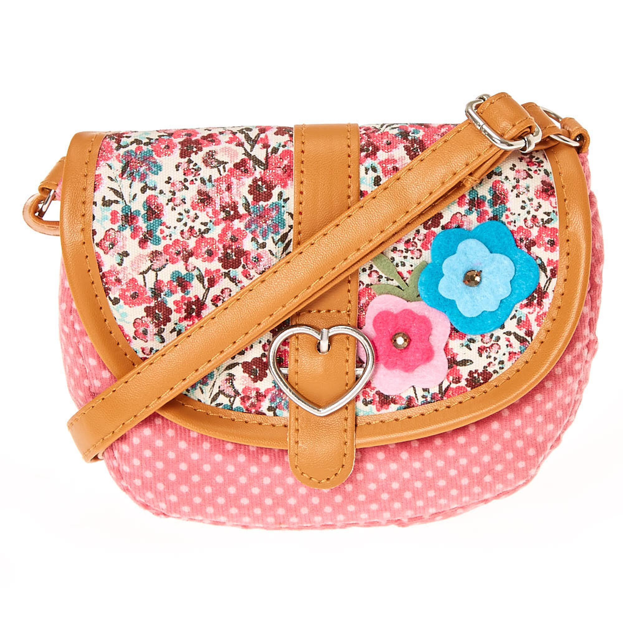 Kids Pink Floral Crossbody Bag   Claireu0026#39;s