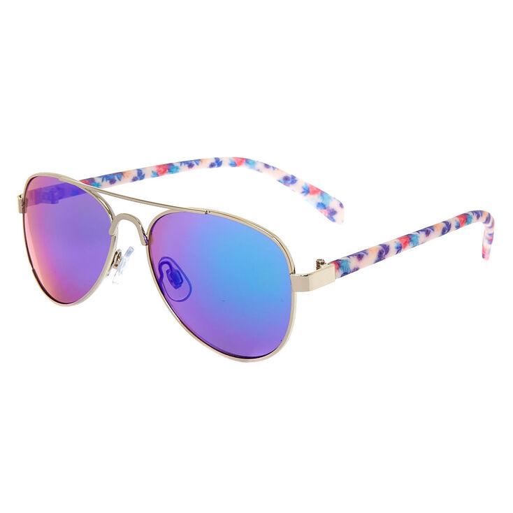 d052f2a628 Claire  39 s Club Aviator Floral Sunglasses