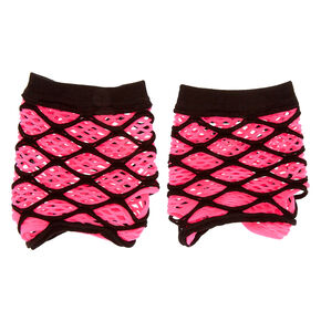 Fishnet Gloves - Pink,
