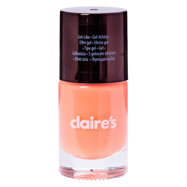 Neon Coral Gel Nail Polish | Claire\'s