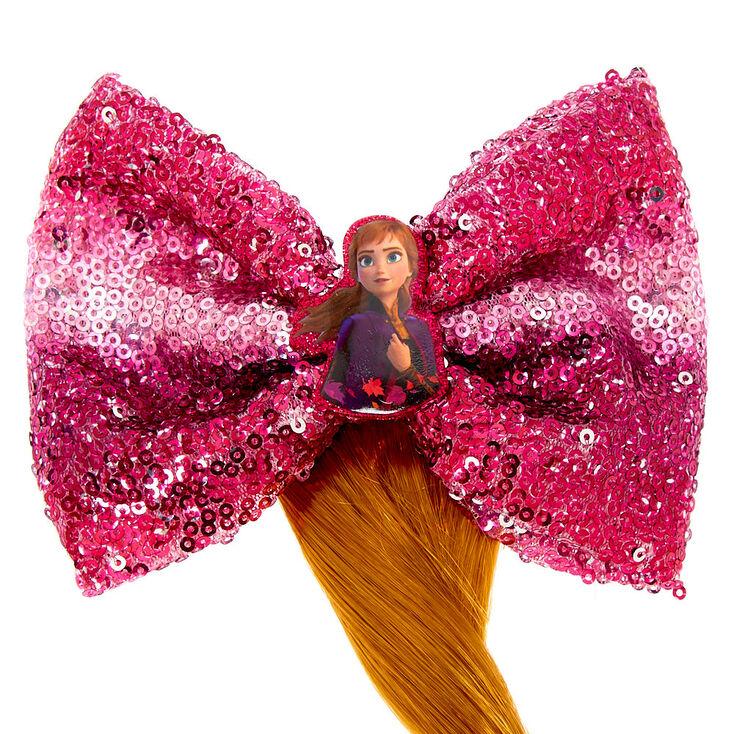 Barrette à cheveux Anna avec nœud à sequins et fausse queue de cheval La Reine des Neiges 2 de ©Disney,