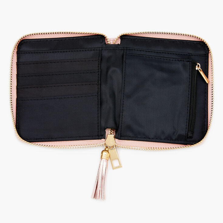 Quilted Small Zip Wallet - Pink,