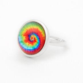 Silver Tie-Dye Dome Ring,
