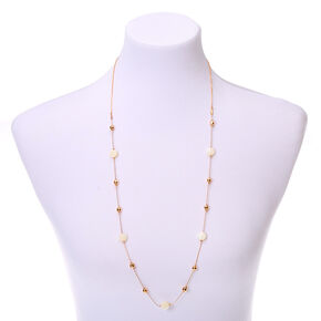 Gold Beach Babe Beaded Long Necklace,