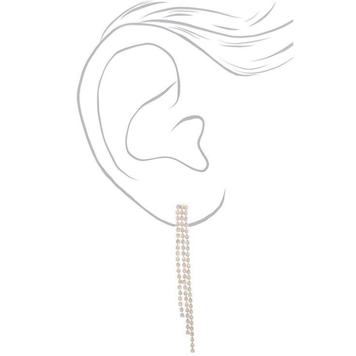 """Claire/'s Girl/'s Silver 3/"""" Double Swirl Drop Earrings"""