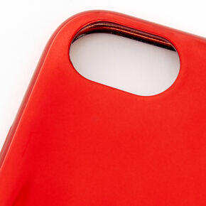 Coque de portable couleur chromée rouge - Compatible avec iPhone 6/7/8/SE,