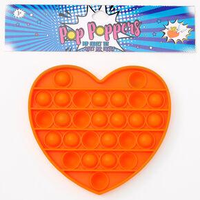 Pop Poppers Heart Fidget Toy – Orange,