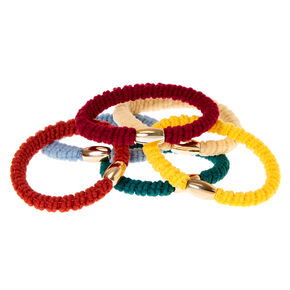 Autumn Ribbed Hair Ties - 6 Pack,