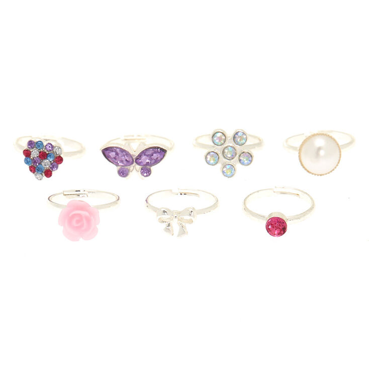 Claire's Club Rings - 7 Pack,