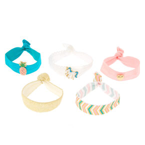 Summer Unicorn Ribbon Stretch Bracelets - 5 Pack,