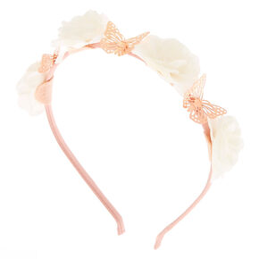 Flower & Butterfly Headband - Ivory,