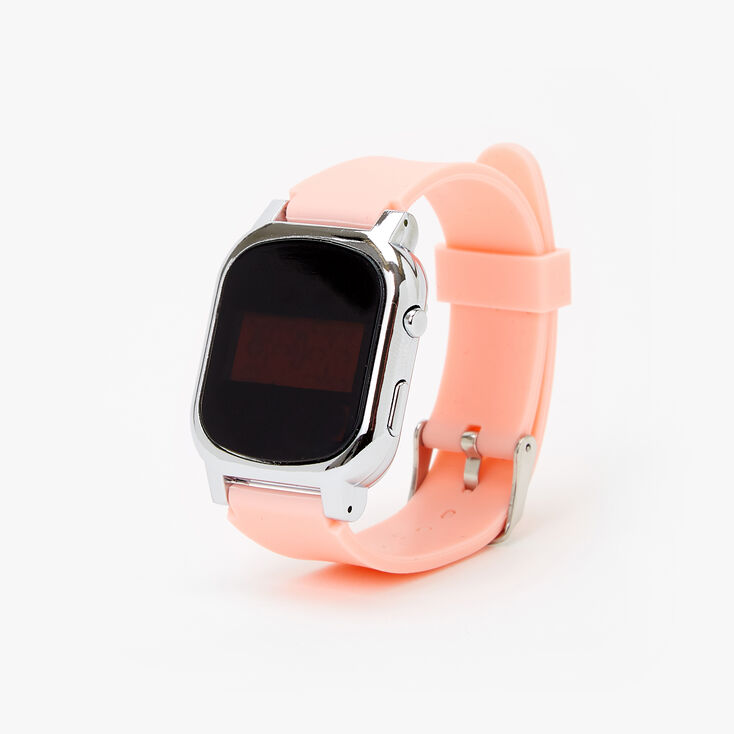 Solid Silicone LED Watch - Coral,
