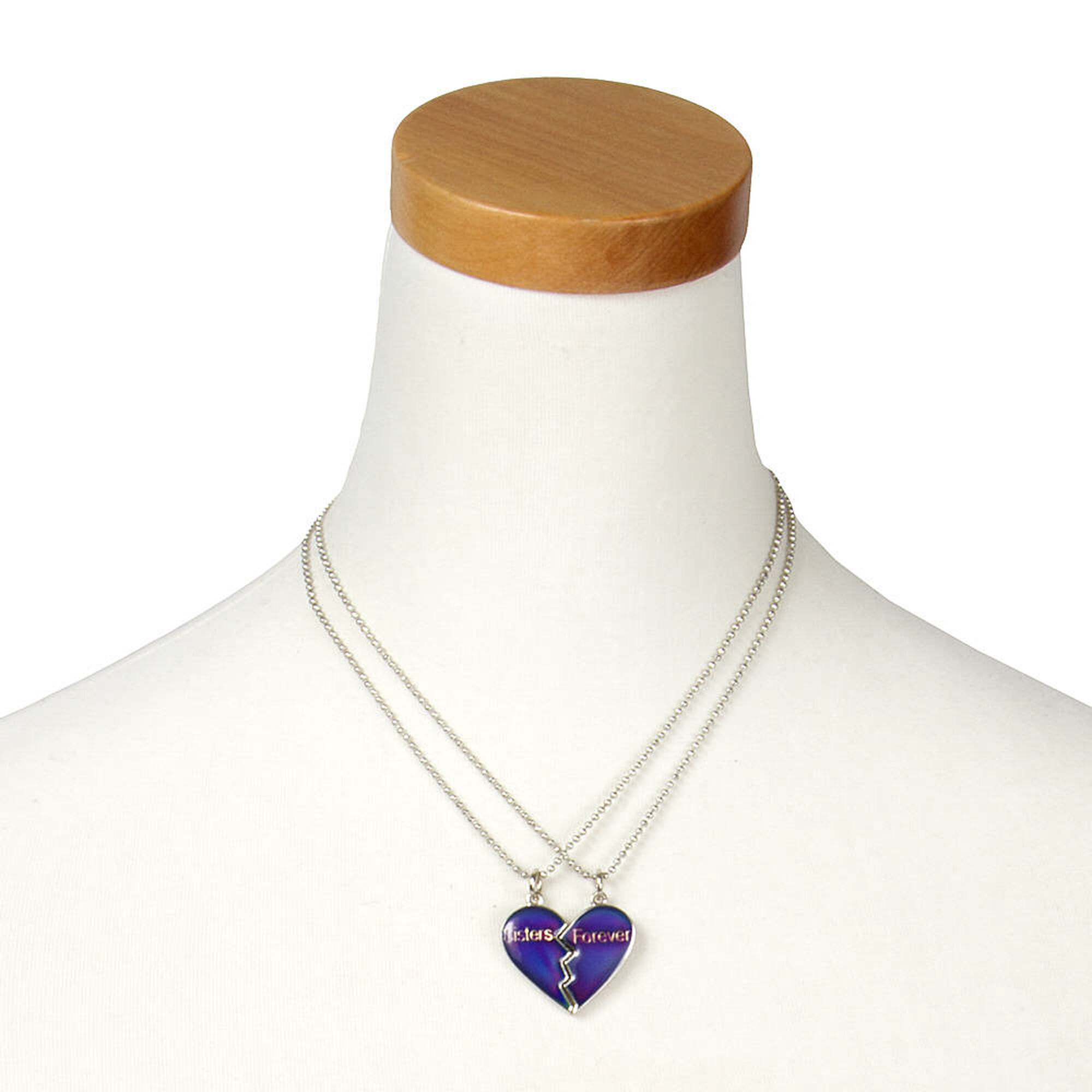 8290ce8927 Sisters Forever Mood Heart Pendant Necklaces | Claire's US