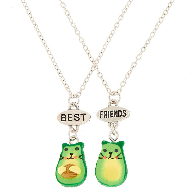 Best Friends Avocado Cat Pendant Necklaces - 2 Pack,