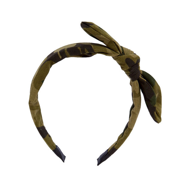 Claire's - camo top knotted bow headband - 2