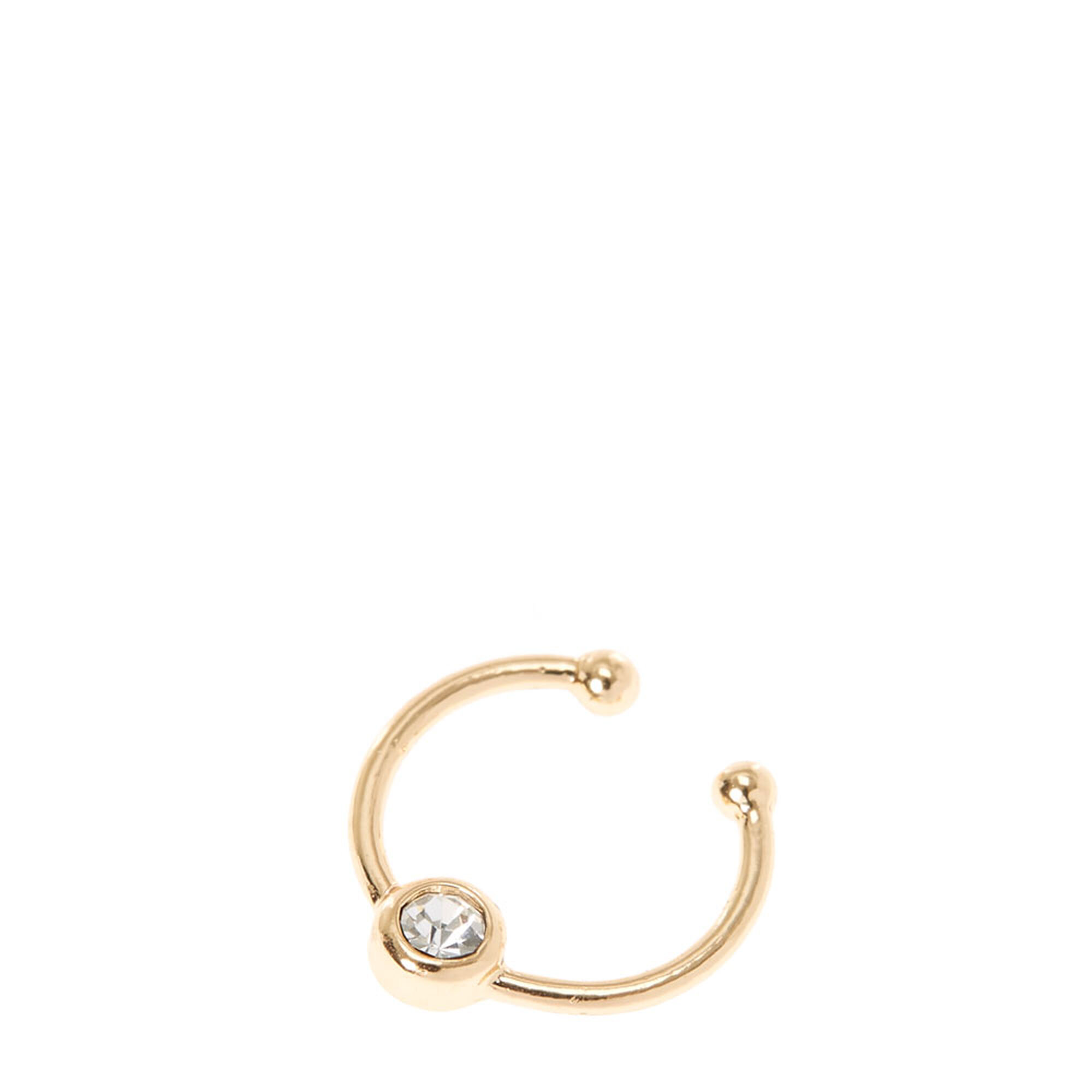 p hoop on septum gold fullxfull cuff wrapped clip il ring nose fake piercing